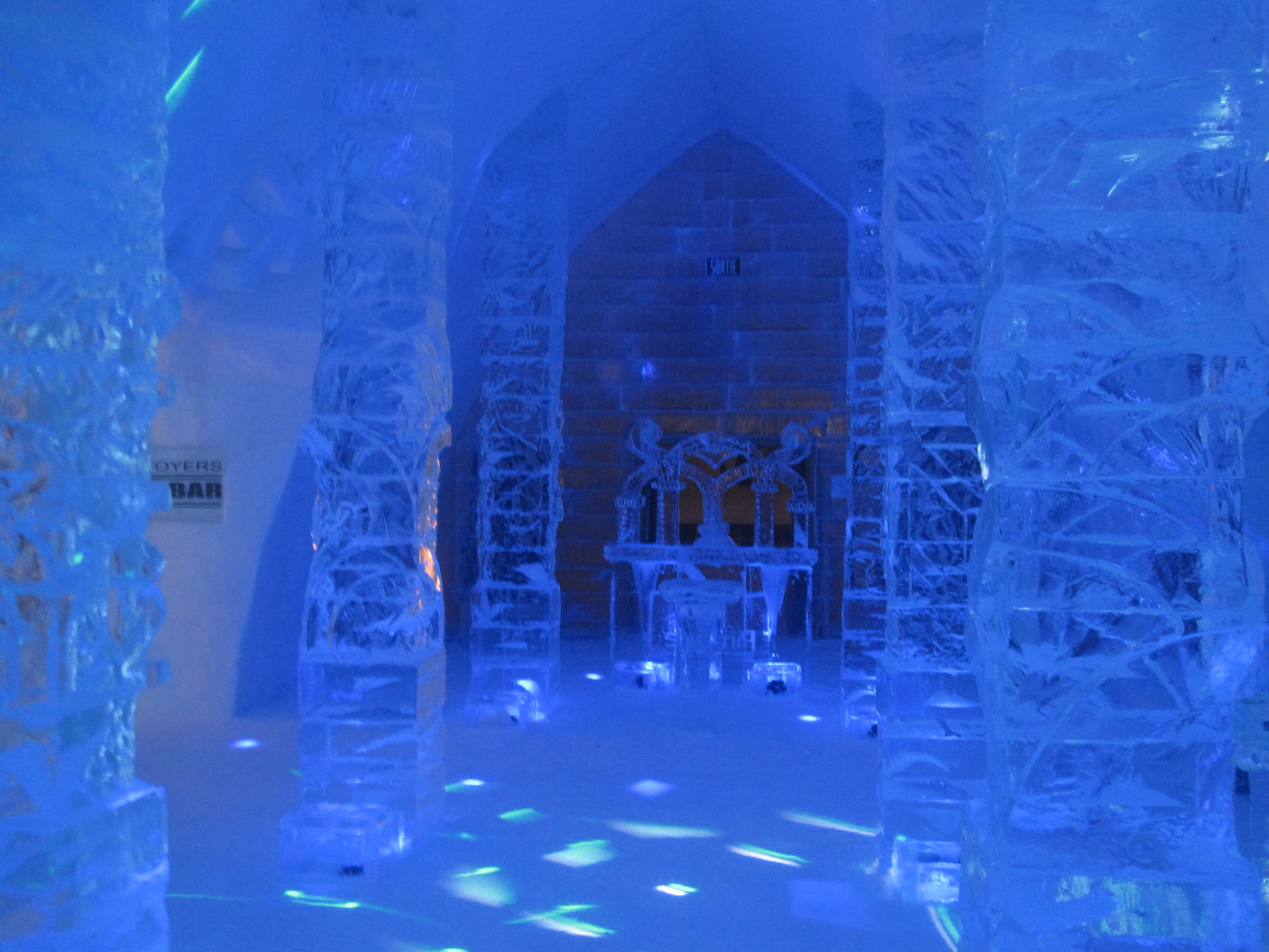 Different Kind Of Ironing At Quebec City Ice Hotel